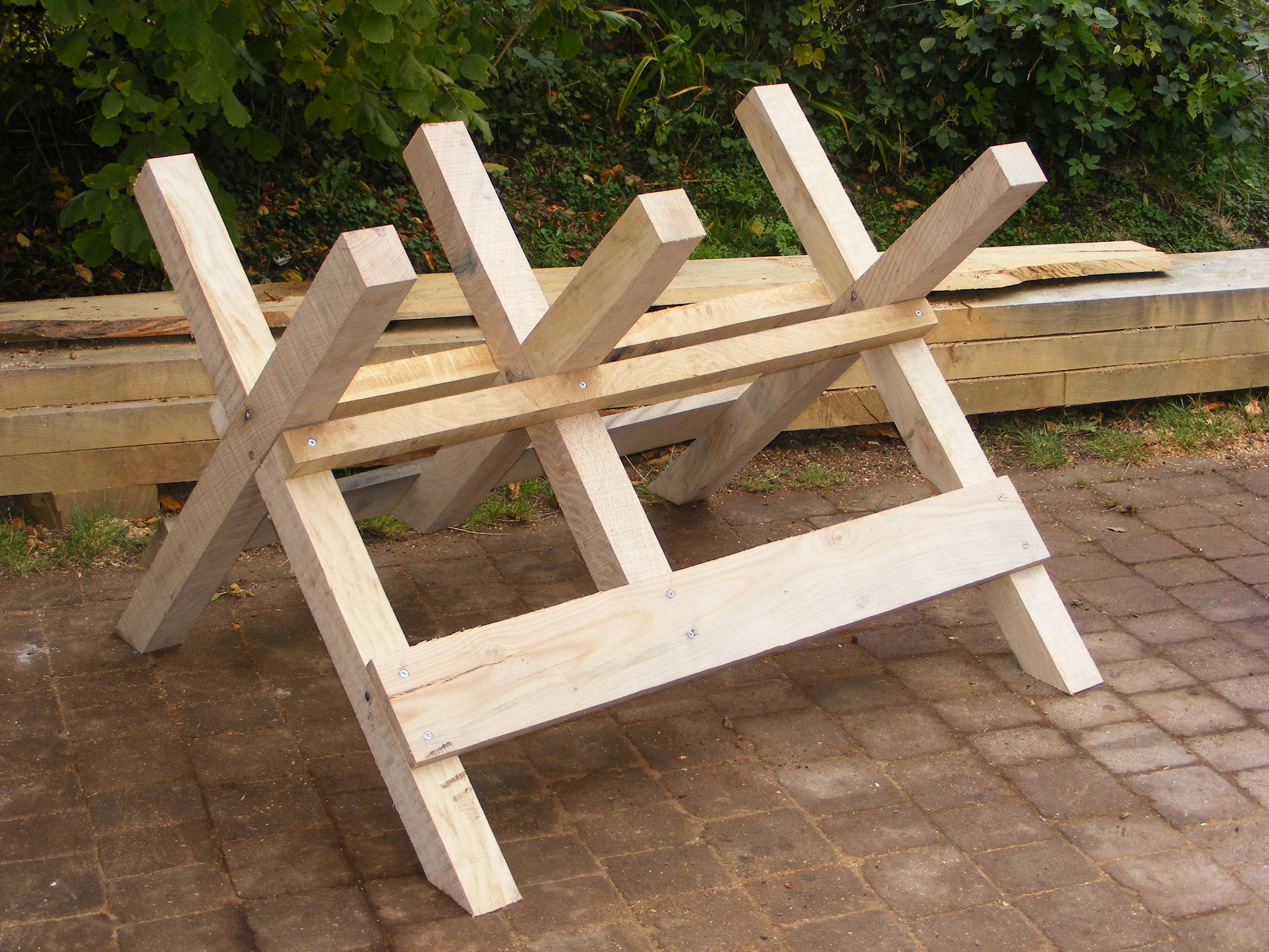 log sawhorse plans